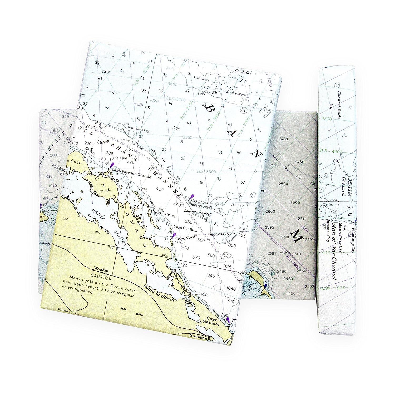 Amazon nautical chart gift wrapping paper premium 28x20 5 amazon nautical chart gift wrapping paper premium 28x20 5 sheet wrap pack beautiful straits of florida bahamas map edition malvernweather Choice Image