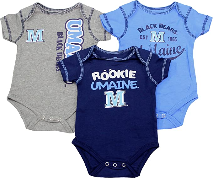 Outerstuff NCAA Infant University of Maine Black Bear 2 Piece Creeper Set