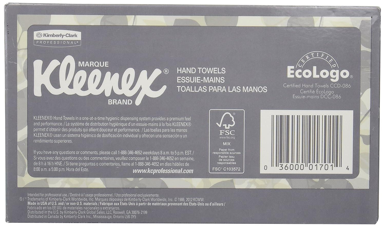 Kimberly-Clark Kleenex 01701 1-Ply Hand Towel, 9