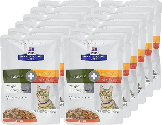HILLS PRES. DIET FELINE METABOLIC +URINARY STRESS SOBRE 85G: Amazon.es: Productos para mascotas
