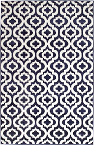 SummitS43 New Navy Blue Morrocan Trellis Area Rug Modern Abstract Rug , 8 X11 ACTUAL SIZE IS 7 .4 X10 .6