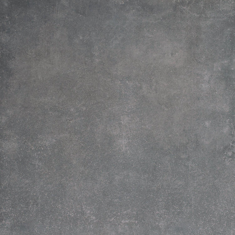 Muster ab 10x10cm Rektifizierte Bodenfliese Kingston anthrazit matt im Gro/ßformat 80x80cm aus Feinsteinzeug