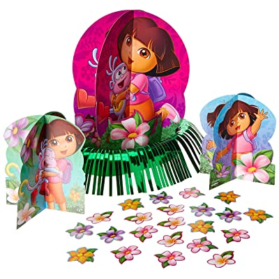 Table Decorating Kit | Dora's Flower Adventure Collection | Party Accessory: Toys & Games
