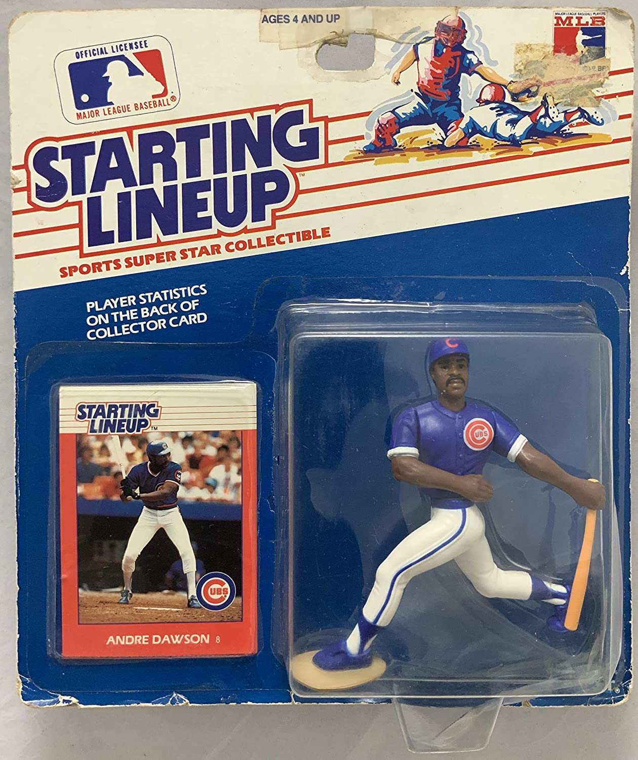 1988 KENNER STARTING LINEUP MLB ANDRE DAWSON CHICAGO CUBS MOC