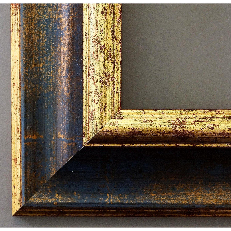 Artecentro Cornice Dorata per - Quadri - per oro Coloreee con o Senza passepartout in Legno-Varie Misure (oro Blu, 30 x 40) 6cfd06