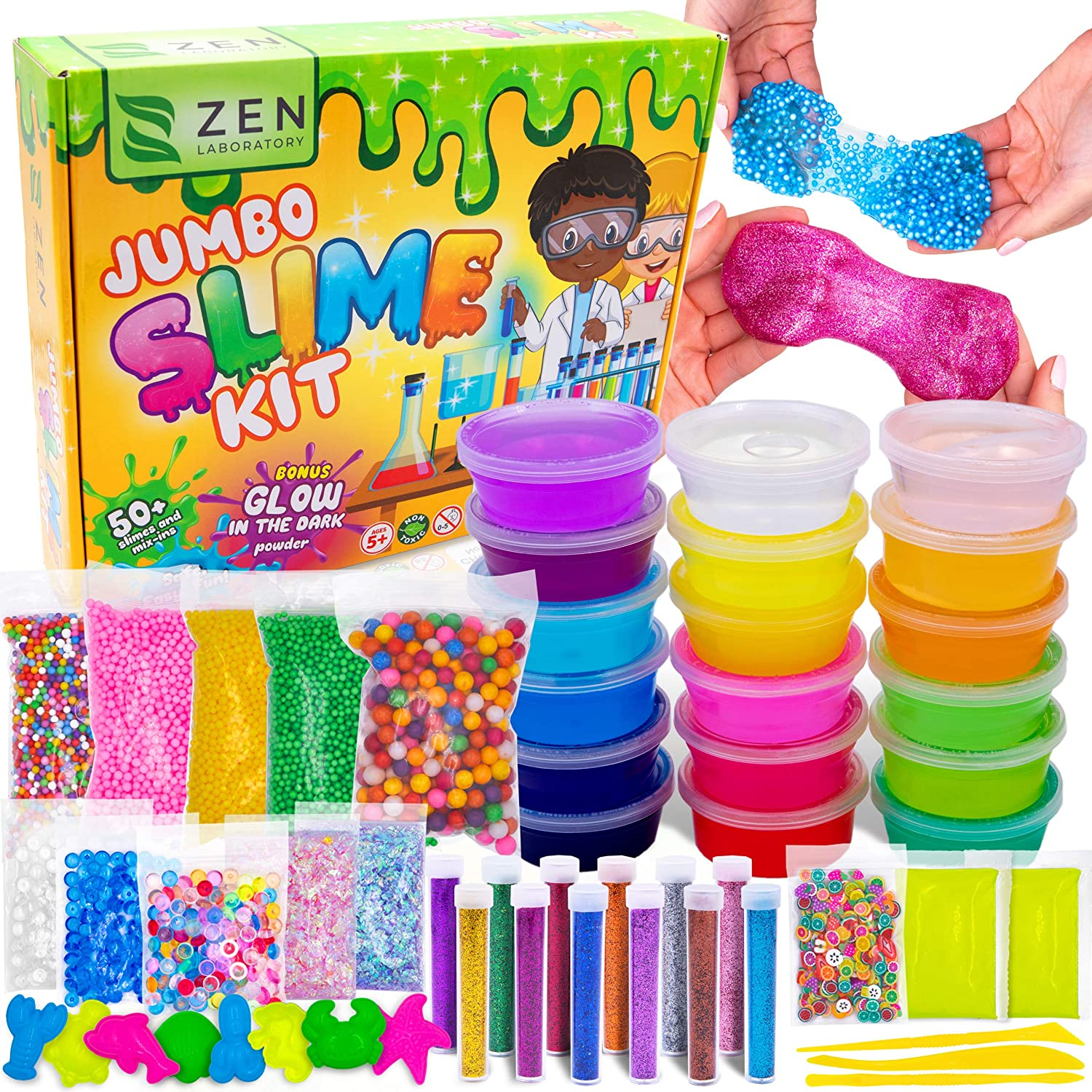 Amazon.com: DIY Slime Kit for Girls Boys - Ultimate Glow in the ...
