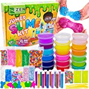 DIY Slime Kit for Girls Boys - Ultimate Glow in the Dark Glitter Slime Making Kit Arts Crafts - Slime Kits Supplies include
