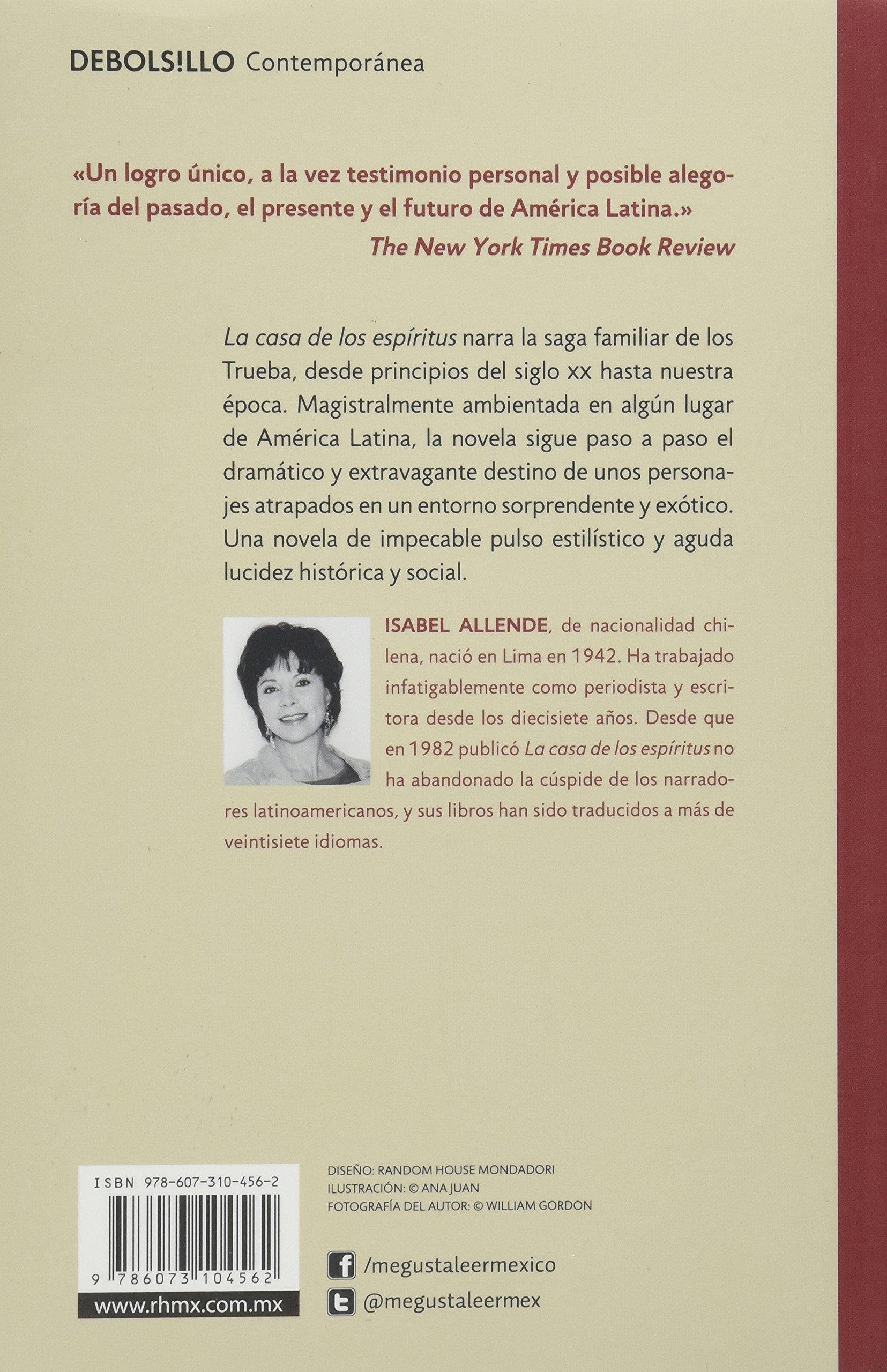 La Casa De Los Espiritus Amazon Es Libros