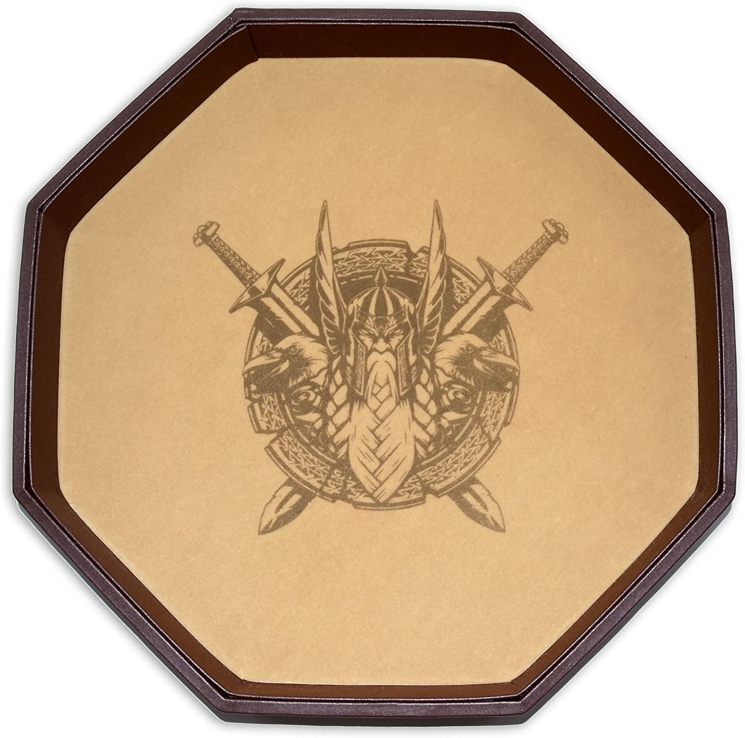 Darksilver Forge Odins Battlefield 11.5 Inch Octagon D/&D Dice Tray