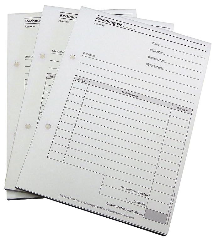 2x50 BLATT,RECHNUNG,Rechnungsblöcke,durchschreibend RECHNUNGSBLOCK,DIN A5,SD