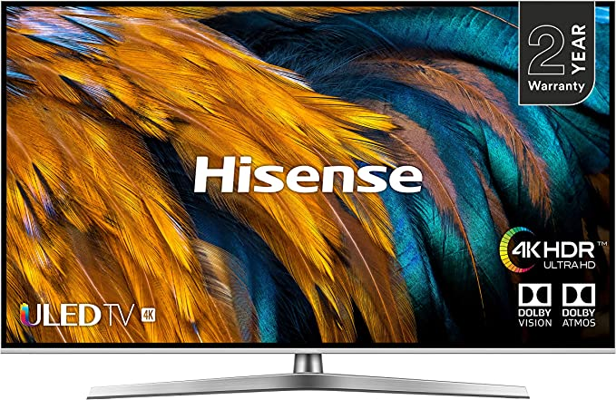 HISENSE H55U7BUK 55-Inch 4K UHD HDR Smart ULED TV with Freeview Play (2019) [Energy Class A+]