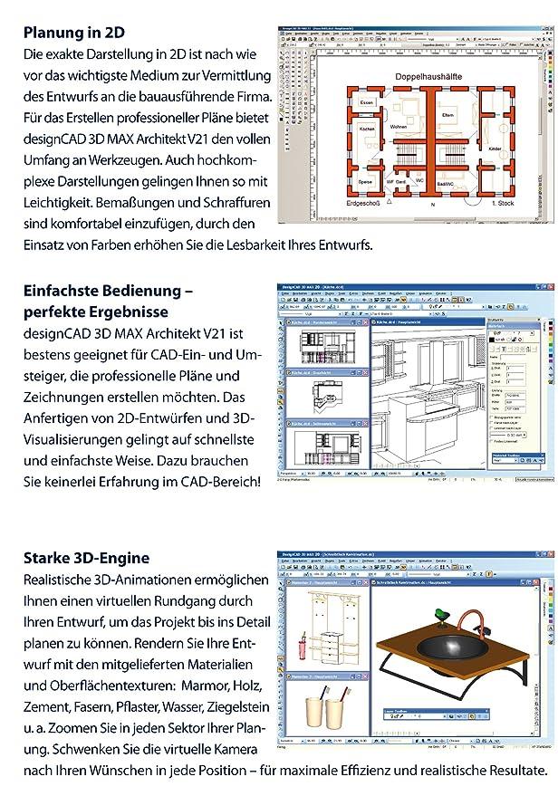 Franzis Architekt 3D Design CAD Max V21 Professional: IMSI: Amazon.de:  Software