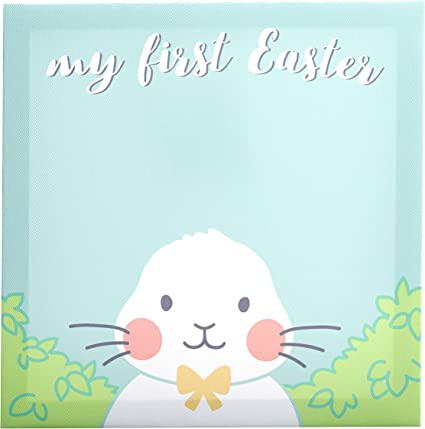 Baby Hand and Footprints Kate /& Milo My First Easter Canvas and Paint Kit Easter Bunny Craft