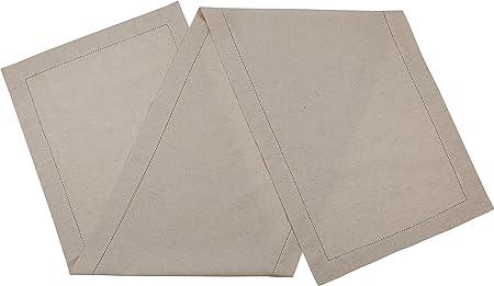 sweetneedle – lino algodón hecho a mano Funda escalera hemstitched de encaje camino de mesa en color