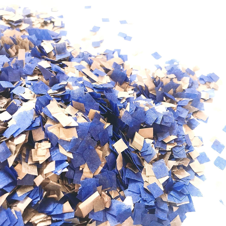 InsideMyNest Biodegradable Confetti Tissue Paper Squares Cobalt Blue Copper 60g//2oz