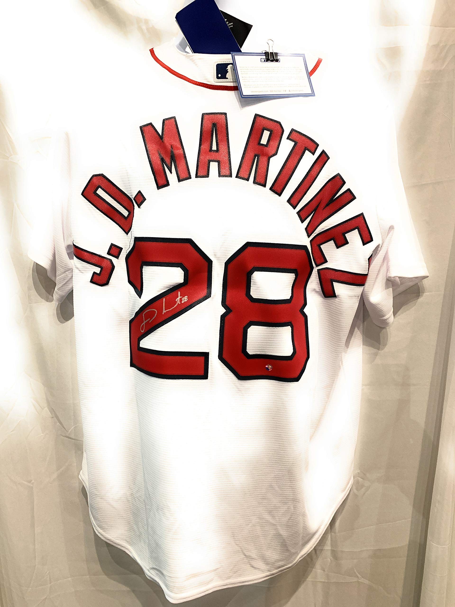 JD Martinez Boston Red Sox Signed Autograph Majestic Cool Base Jersey Steiner Sports Certified