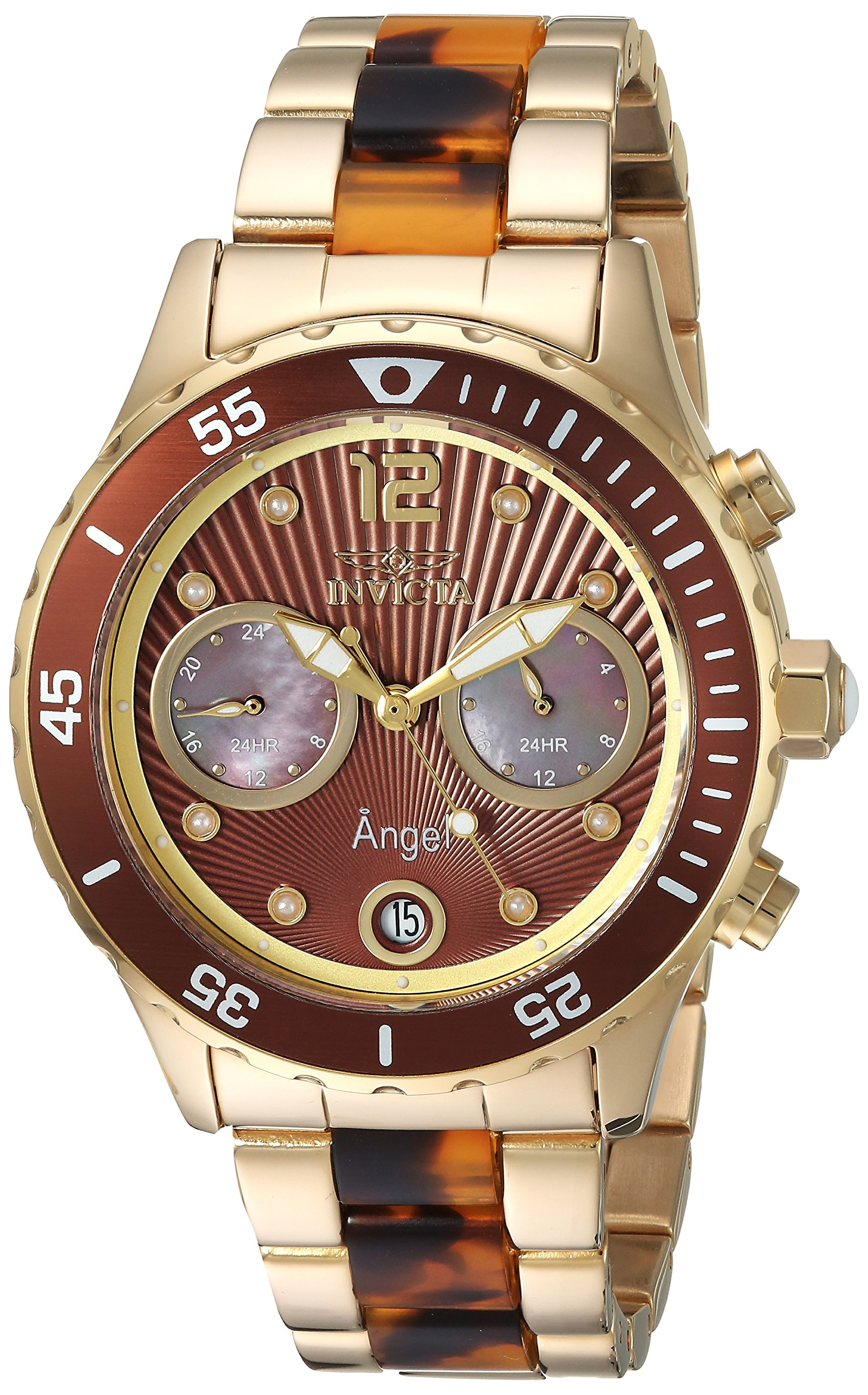 ویکالا · خرید  اصل اورجینال · خرید از آمازون · Invicta Women's 'Angel' Quartz Stainless Steel Casual Watch, Color:Two Tone (Model: 24706) wekala · ویکالا