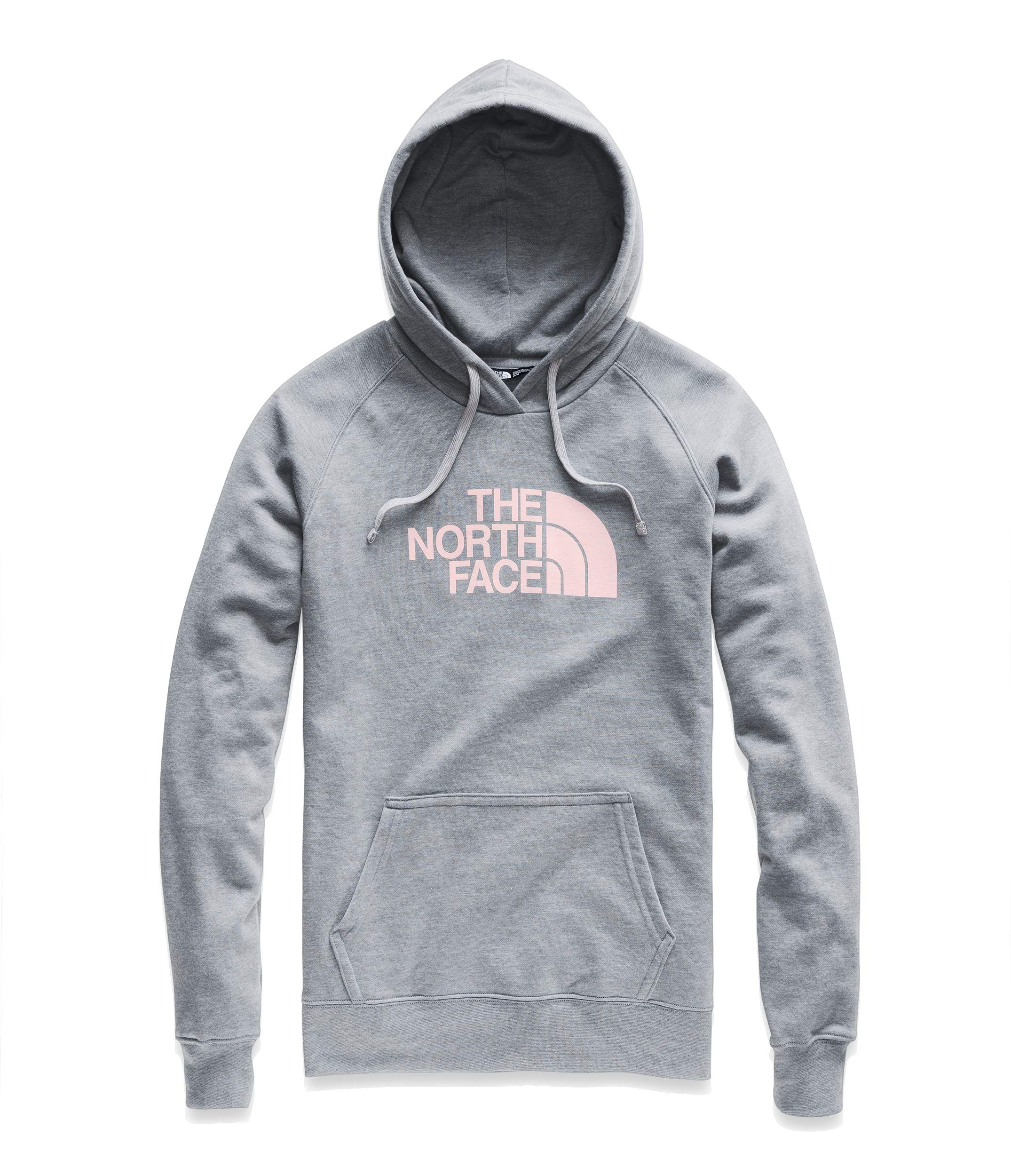 The North Face Women's Half Dome Pullover Hoodie TNF Medium Grey Heather/Pink Salt X-Small by The North Face