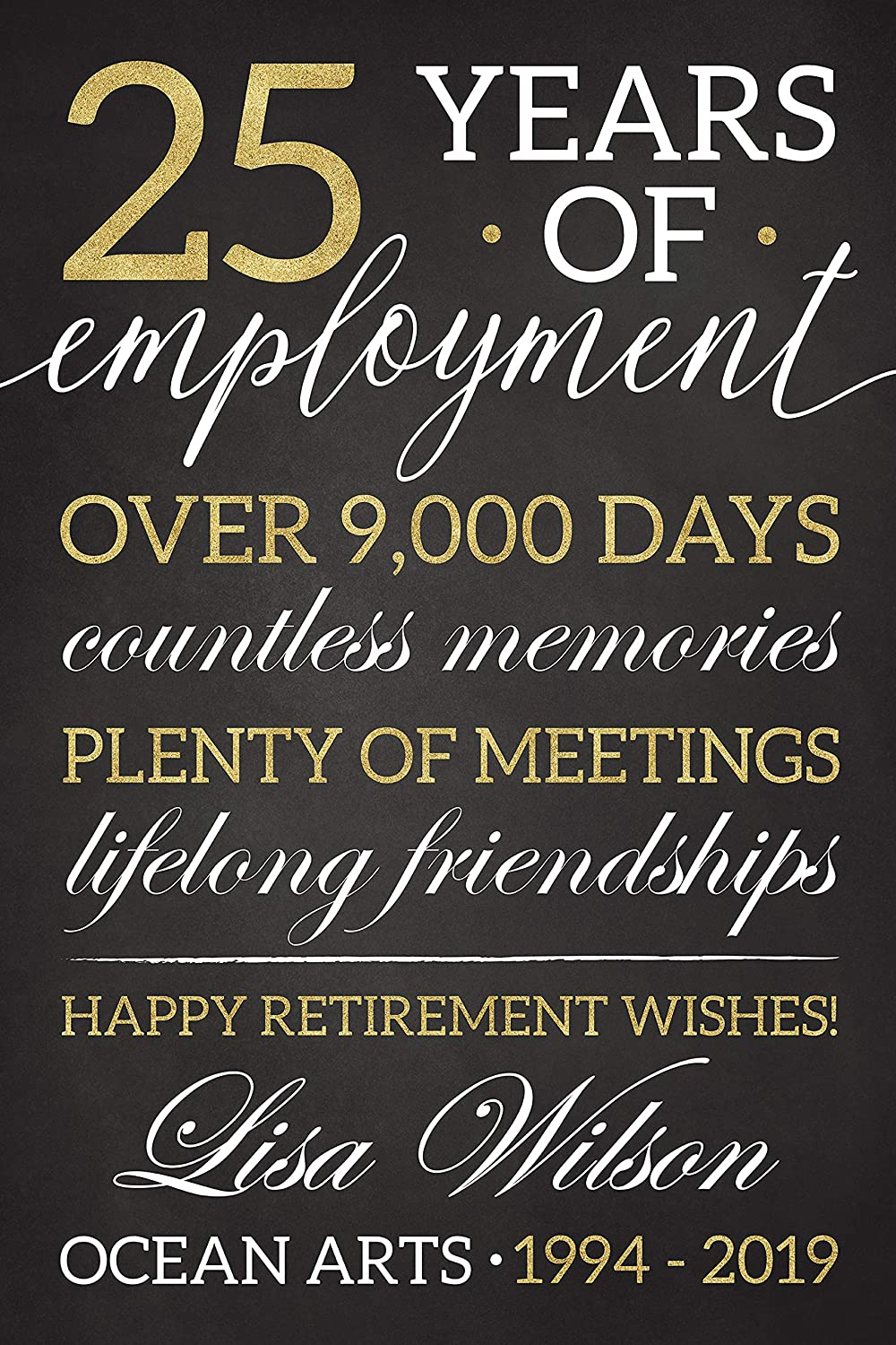 Amazon.com: Chalkboard Retirement Party Welcome Sign, Black ...