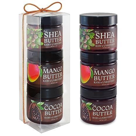 Amazon.com: Karité, mango, Cacao Mantequilla de cuerpo ...