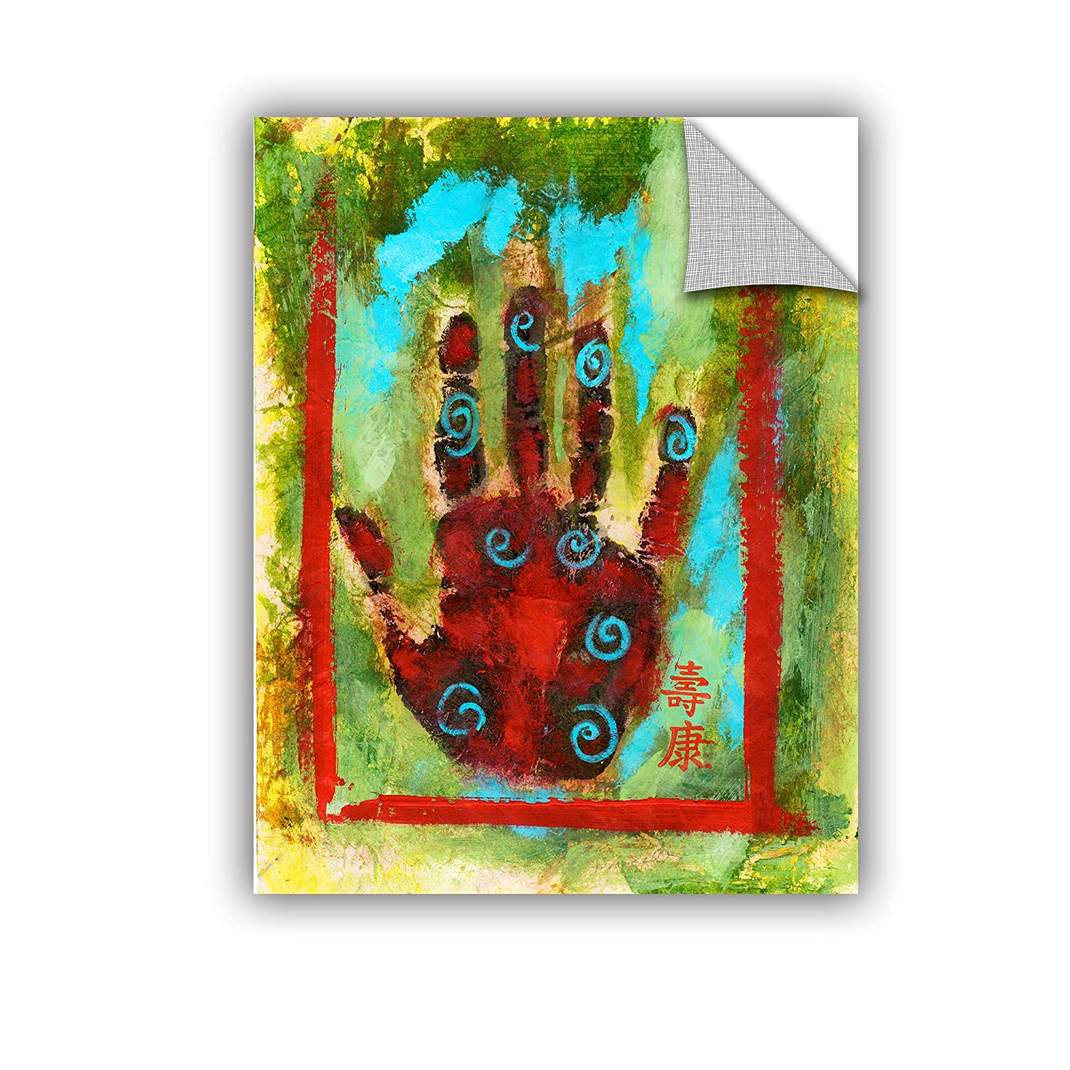 18 x 24 Multicolor ArtWall Elana Rays Buddhist Palm Appealz Removable Graphic Wall Art