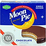 MoonPie Single Decker Chocolate Marshmallow Sandwich - 2oz, 12Count Box (Pack of 8 Boxes, 96Count Total) | Chocolate…