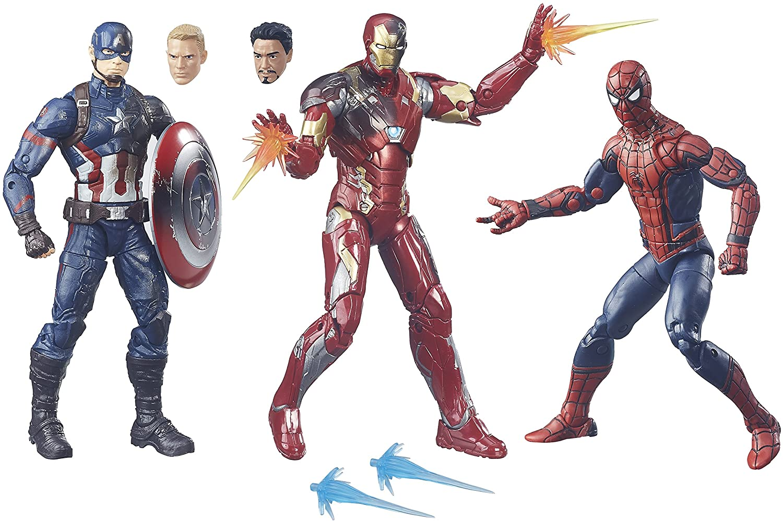 Marvel Legends Captain America: Civil War 6-Inch Figure 3-Pack ...
