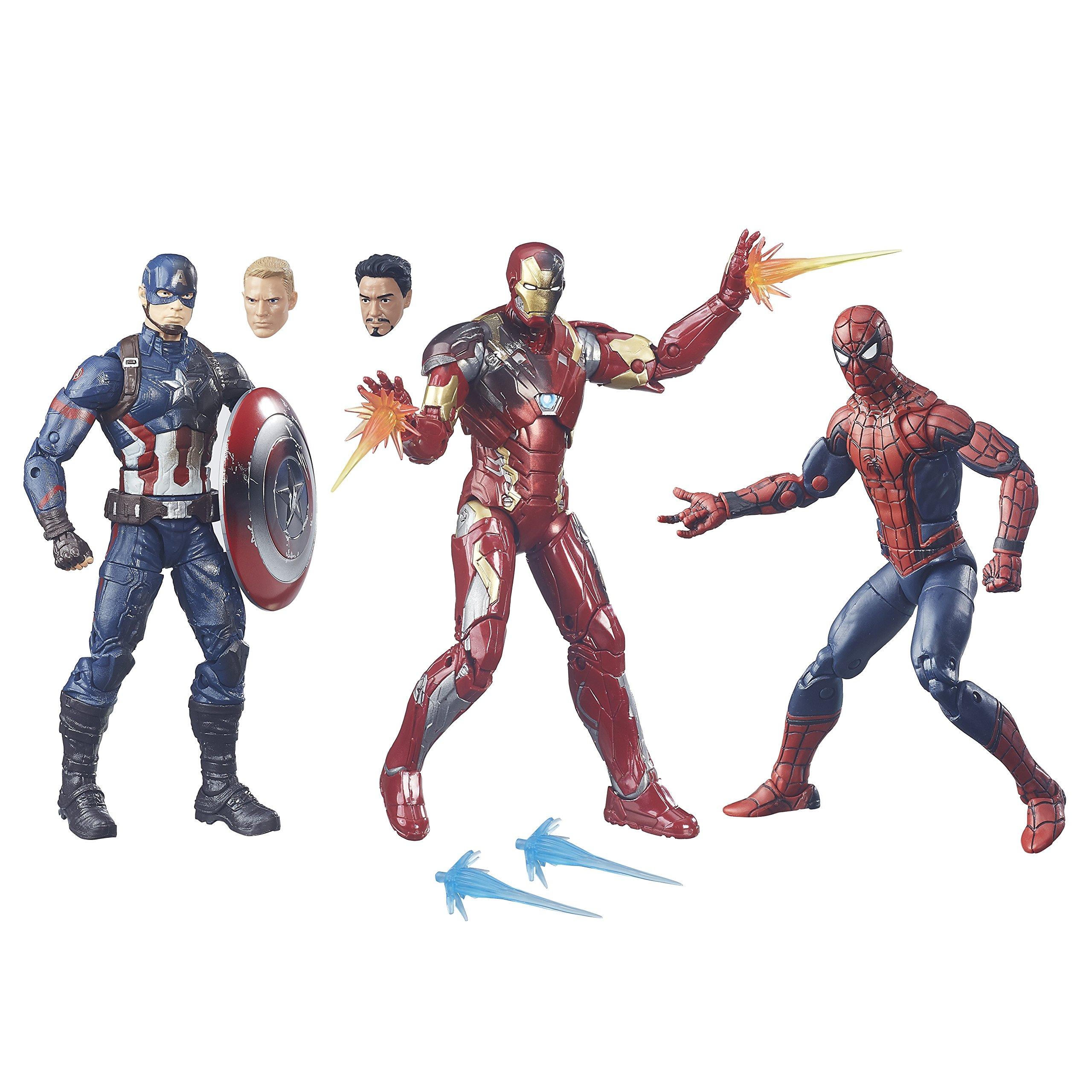 Marvel Legends Captain America: Civil War 6-inch Figure 3-Pack
