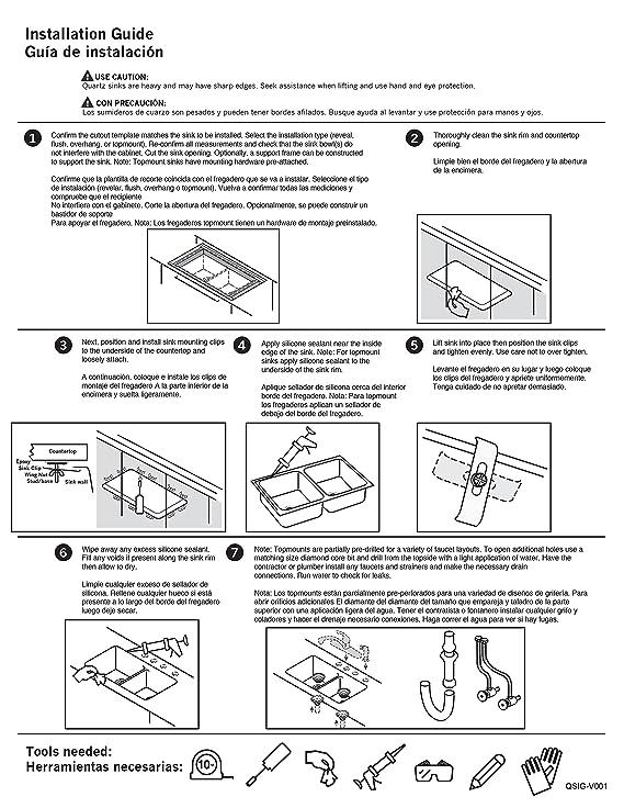 Lexicon Platinum Quartz Composite Kitchen Sink - D-Shaped Single Bowl (LP-2321D White) - - Amazon.com