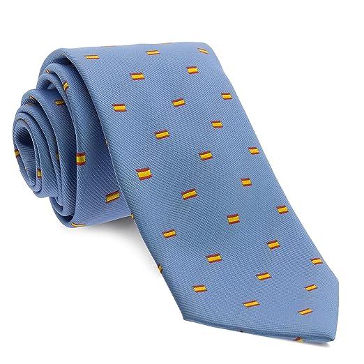 Cencibel - Corbata Banderas de España (Azul Marino): Amazon.es ...