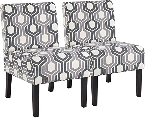 Topeakmart Fabric Armless Accent Chair Contemporary Slipper Chair Dining Chair Side Chair