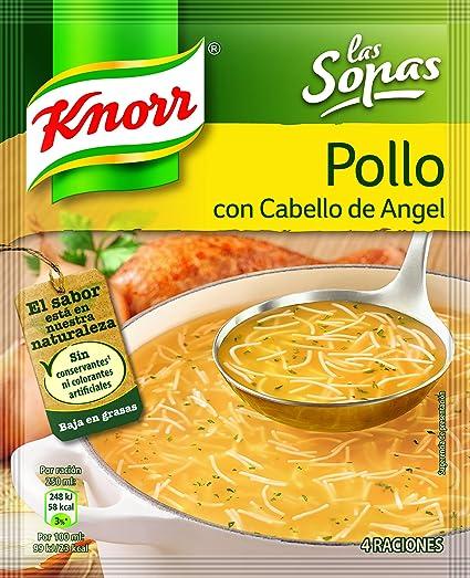 Knorr Sopa De Pollo Con Cabello De Angel, Sopa Deshidratada - 71 g