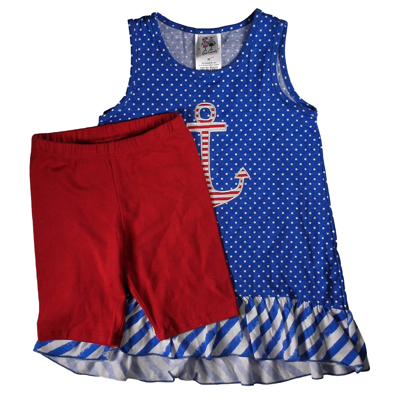 Girlfriends by Anita G 2 Piece Sleeveless Top /& Shorts Set for Girls