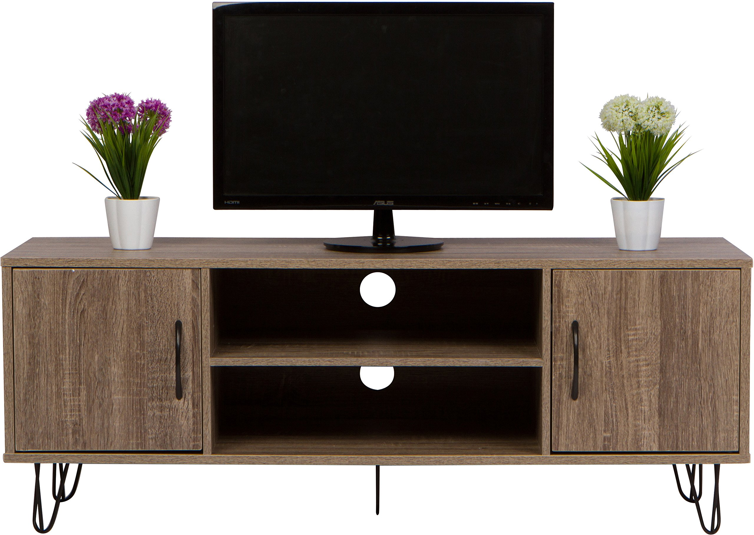 47'' Wood TV Media Stand and Entertainment Center Storage Console by Trademark Innovations