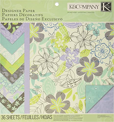 Amazon Com K Company Poppy Seed Double Sided Designer Paper Pad