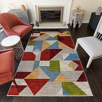 Amazon Com Rugs America Area Rug 9 X 12 Bright Hues Furniture Decor