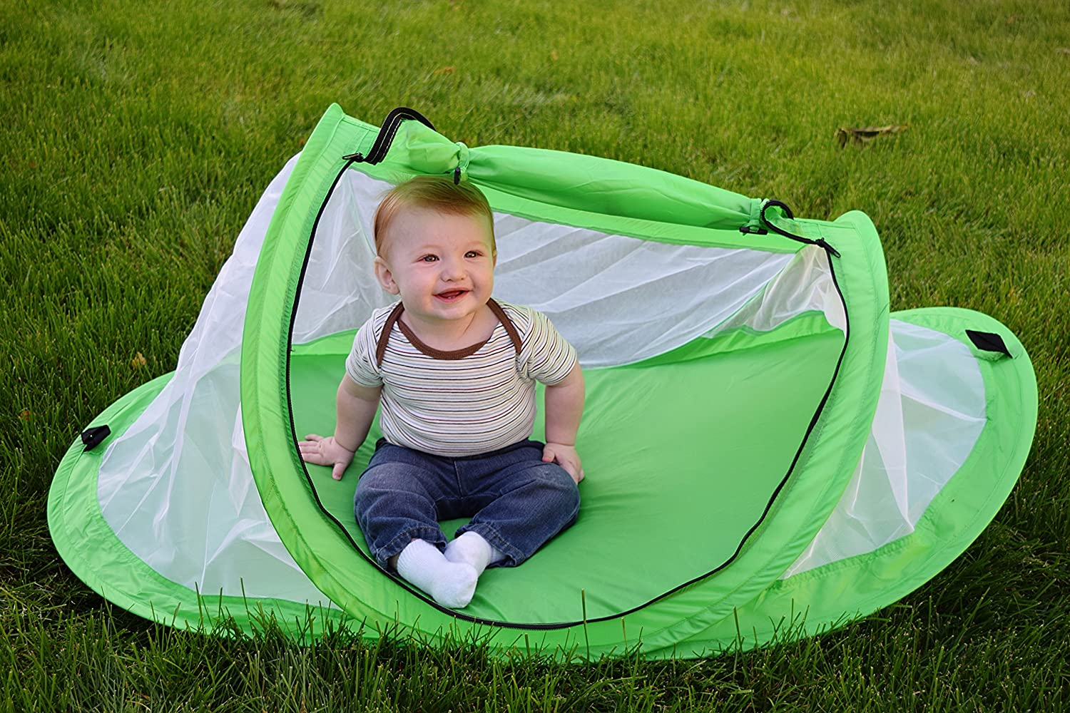 Amazon.com  Baby tent Pop-Up beach tent Instant travel tent for baby Protect from sun u0026 bugs (Green)  Baby  sc 1 st  Amazon.com & Amazon.com : Baby tent Pop-Up beach tent Instant travel tent for ...