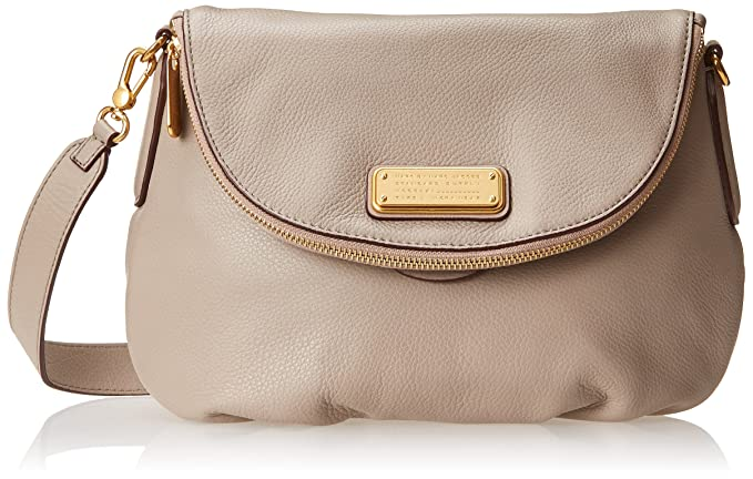 Amazon.com  Marc by Marc Jacobs New Q Natasha Cross Body Bag, Cement ... b60f1caa283a