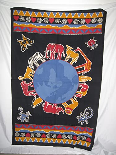 Animal Kingdom Earth Tapestry 57 X 86 Nwt