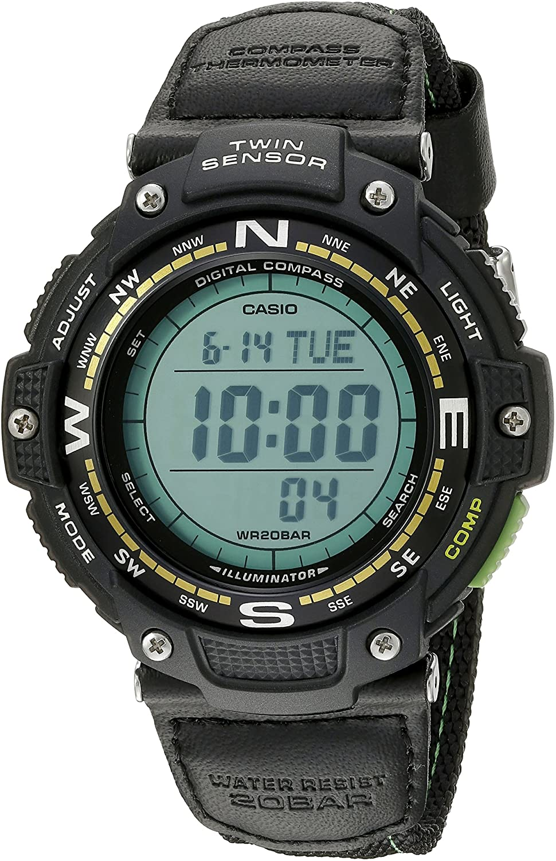 B013TPI9EG Casio Men's SGW-100B-3A2CF Twin Sensor Digital Display Quartz Black Watch 91oFdhTKk9L