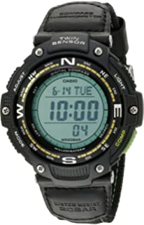 a4e7c6dc143 Casio Men s SGW-100B-3A2CF Twin Sensor Digital Display Quartz Black Watch