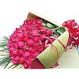 100本バラ 花束 バラ 誕生日プレゼント 女性 赤バラ100本。花束をギフトボックスに入れてお届けします。 本州に限りお届け。サンモクスイ(商標登録第5497927号)の手作り