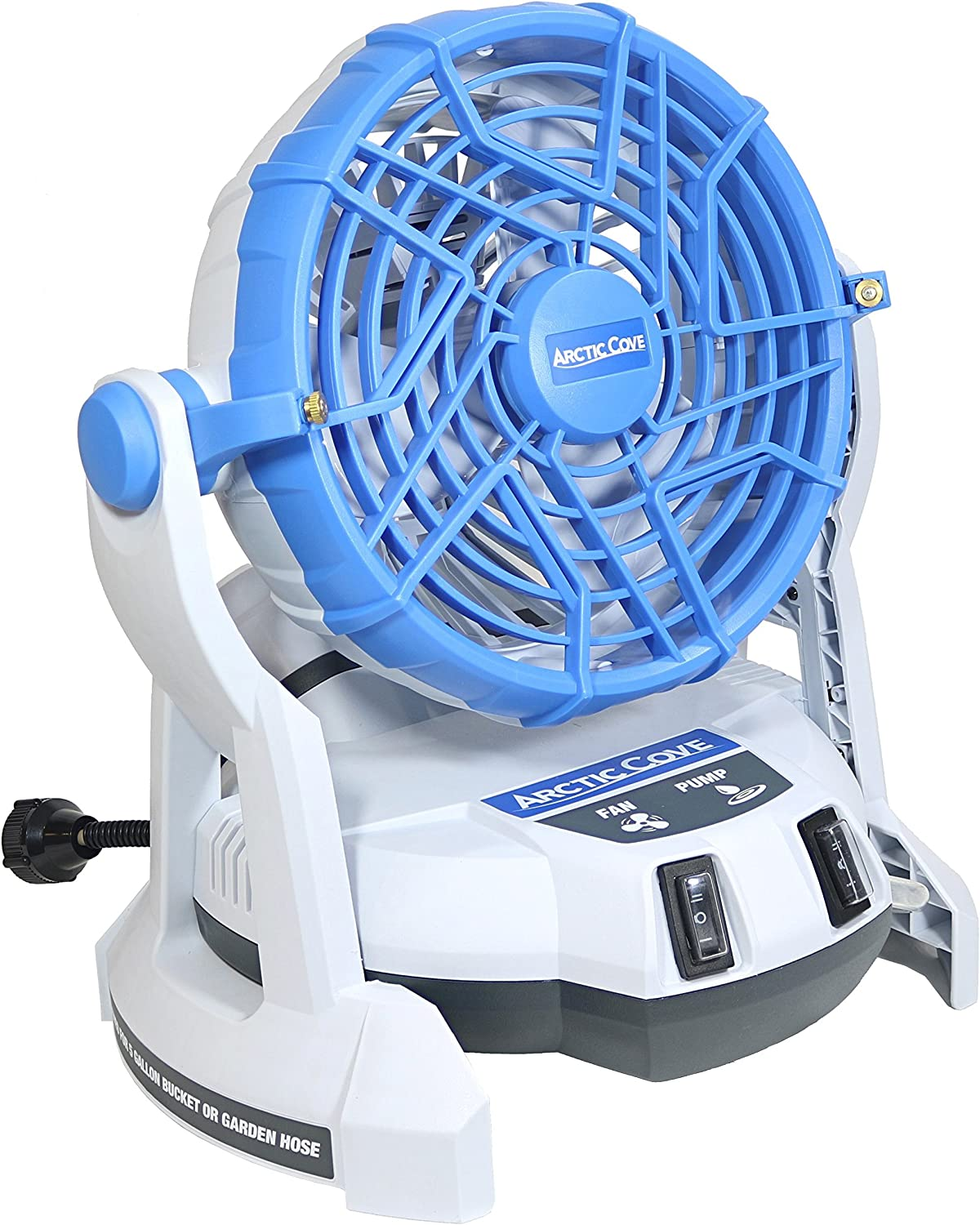 Arctic Cove MBF0181 18V Lithium Ion Powered Cooling Bucket Top Variable Speed Fan and Water Mister