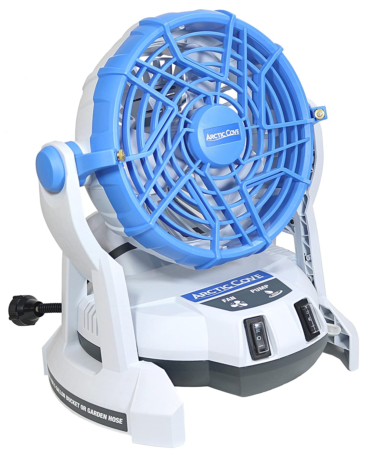 Arctic Cove MBF0181 18V Lithium Ion Powered Cooling Bucket Top Variable Speed Fan and Water Mister 18V Battery and Charger Included, 5 Gallon Bucket Not Included