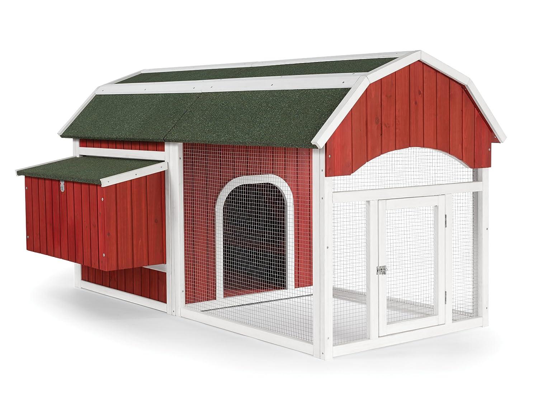 amazon com prevue 465 red barn chicken coop garden u0026 outdoor