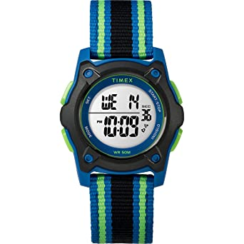 441174a91b1 Timex Kids TW7C26000 Time Machines Digital 35mm Blue Black Green  Double-Layered Nylon