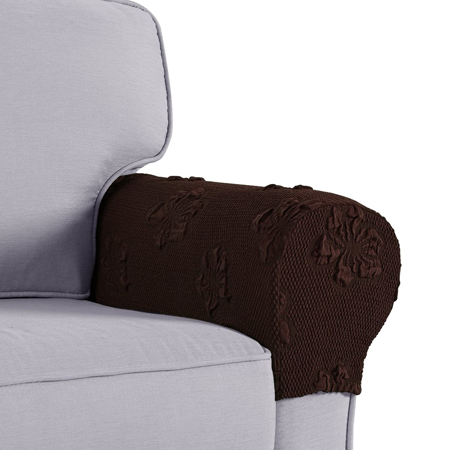 Joywell Spandex Stretch Armrest Covers Set of 2 (Coffee) LTD.