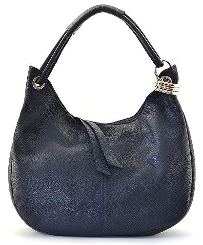 OH MY BAG Sac à main en cuir Samoa bleu fonce SOLDES  Amazon.fr ... bd066d68b1a3