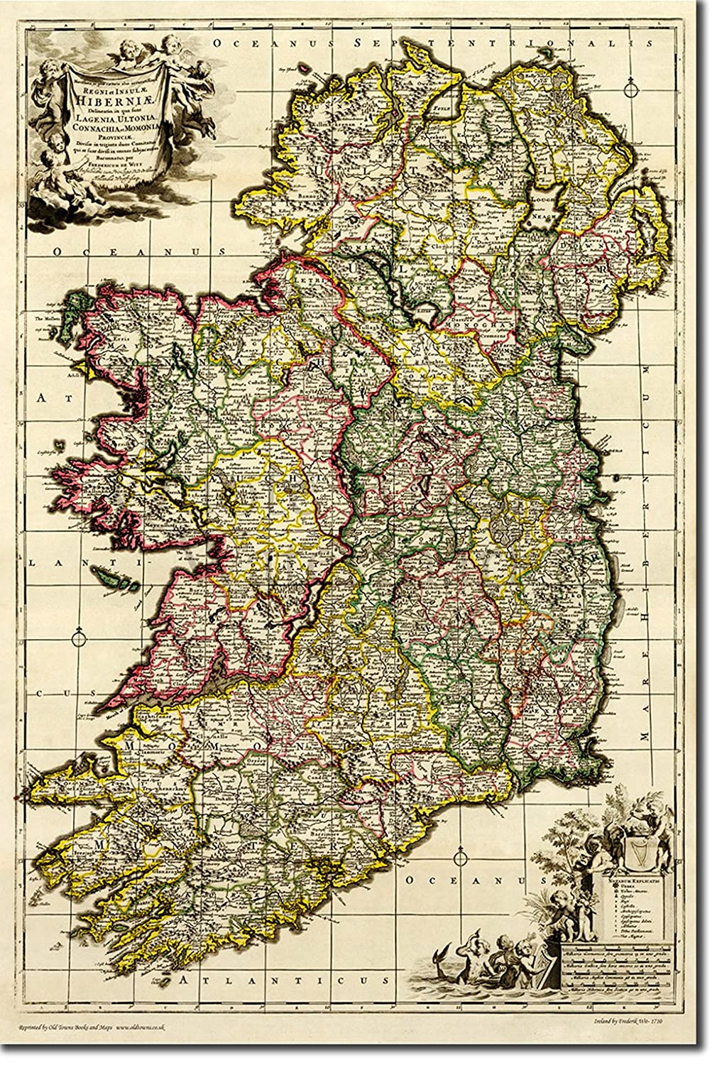 High Quality Map Of Ireland.Amazon Com Best Quality Prints Vintage Map Of Ireland From