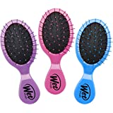 Wet Brush Multi-Pack Squirt Detangler Hair Brushes, Pink/Purple/Blue